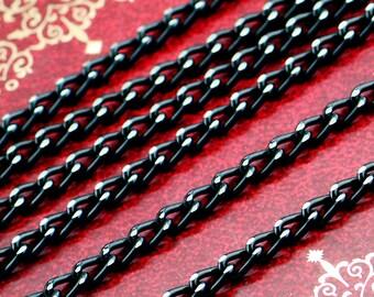 90m 5.5x3.5mm Black color Cross 0 Link Chains