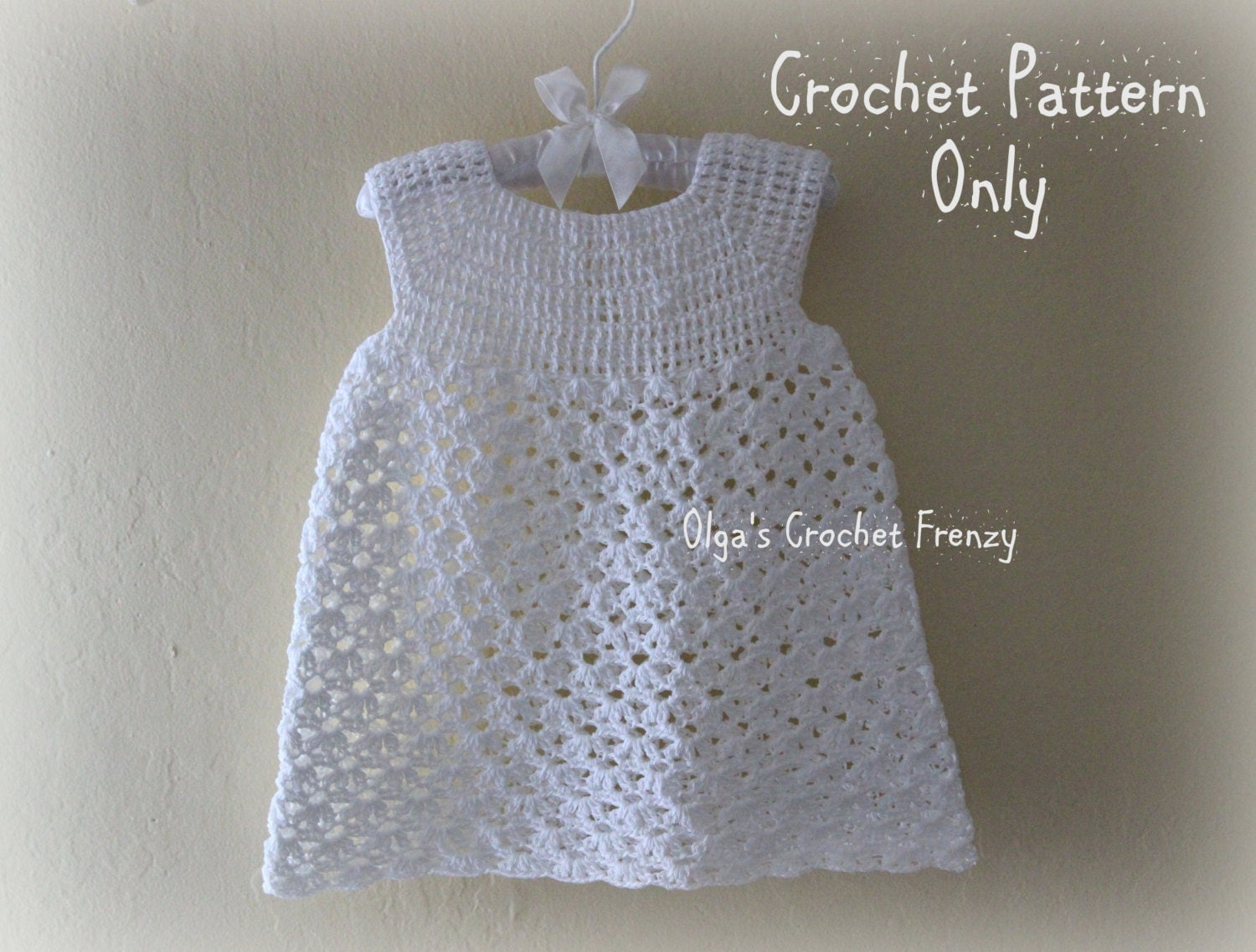 Baby Crochet Patterns For Summer : Summer Dress Crochet Pattern Size 3-6 Months Baby Lace