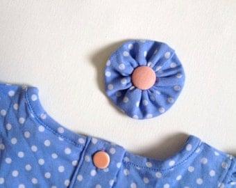 M2M Matilda Jane WONDERFUL PARADE Blue Bonnet Pearl Bliss Shorties Flower Clip or Headband