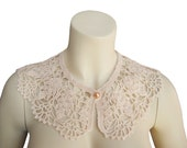 Hant crochet collar,peter pan crochet,crochet collar, peter pan collar, lace collar, collar necklace,Women accessories