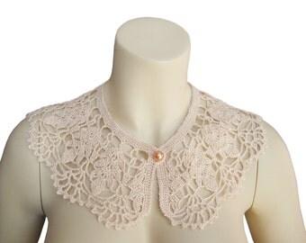 Hant crochet collar,peter pan crochet,crochet collar, peter pan collar, lace collar, collar necklace,Women accessories