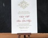 Versaille Letterpress Invitation Suite DEPOSIT