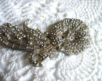 Art Deco Rhinestone Paste Brooch Jewelry
