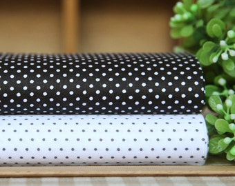 2 pieces Black White Spots Group Series Color collection Cotton Cloth  Quilt Fabric-DIY Handmade Fabric Cloth