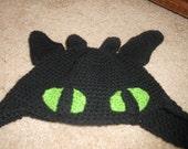 "Crochet ""Toothless"" Dragon hat"