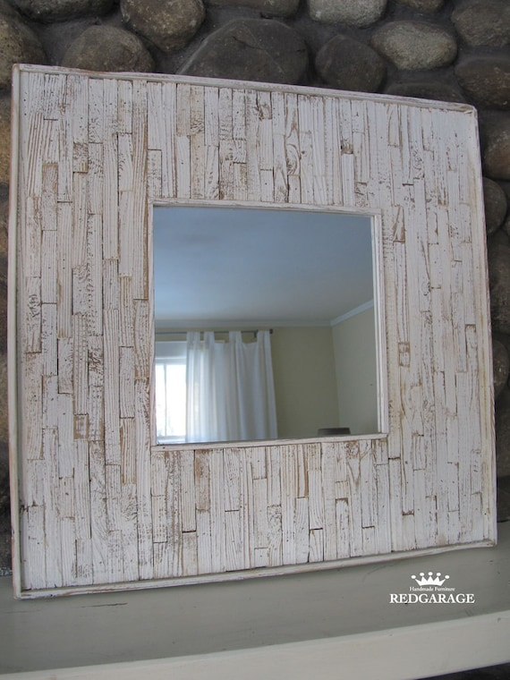 Reclaimed Wood, Mirror, Painted, Weathered, Beach