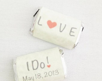 Mini Candy Bar Wrappers- Wedding/Shower Favors!