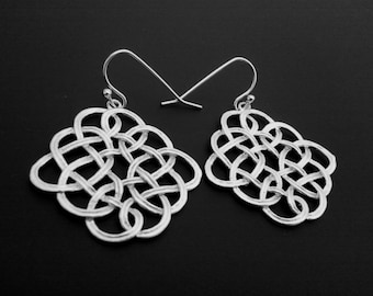 Celtic Pendant Drop Earrings, Dangle, Earrings,bridesmaid gifts,Wedding jewelry, Gift