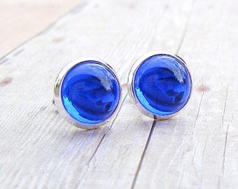 Cornflower Blue Drop post earrings