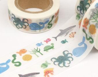 Colorful Marine Animal  Washi Tape - Q762