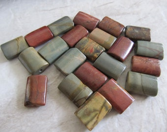 "15"" Picasso Jasper Rectangle Beads 18x13mm"