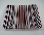 red, white and black contemporary stripe serving dish