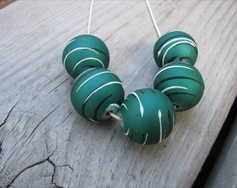JEWELRY SALE- Teal Beaded Necklace- - only 1 available