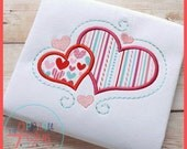 Custom Double Hearts Personalize for free