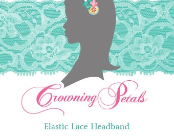 Elastic Lace Headband Add-on, Stretch Lace Headband, Choose Your Color Elastic Lace, Individual Headband, Extra Elastic Headband
