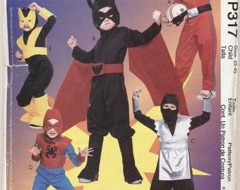 Pattern for Superhero Costume Pattern,  Child Sizes 3-4, 5-6