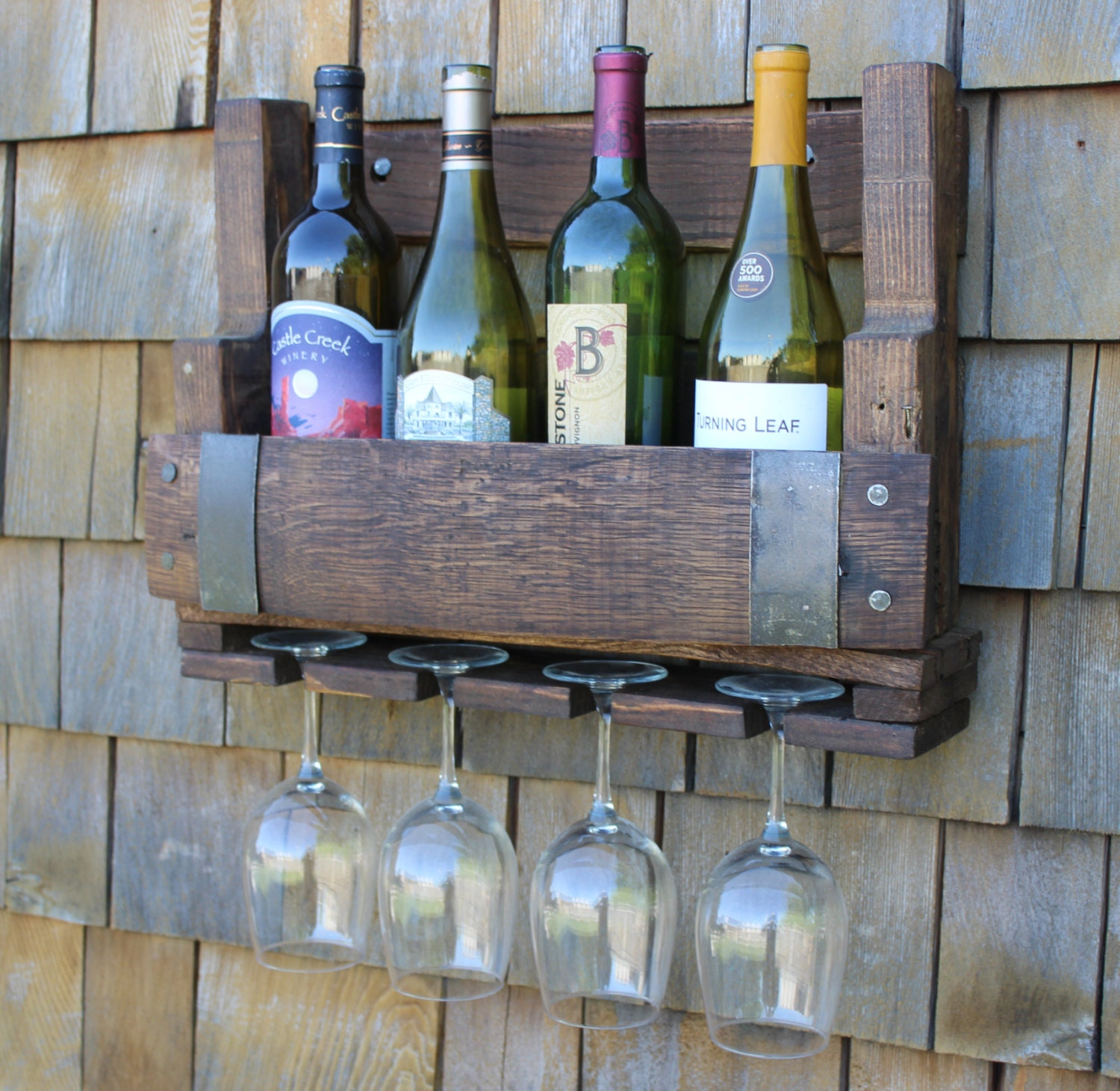 reclaimed wine barrel wine rack pallet wine rack pallet. Black Bedroom Furniture Sets. Home Design Ideas