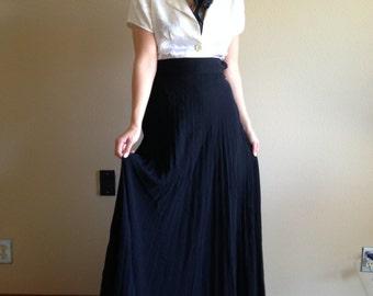 40s Jersey Accordion Pleat Evening Wear Skirt