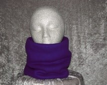 Fleece Neck Gaiter – Double Layered - High Quality - Unisex Sized - Deep Purple