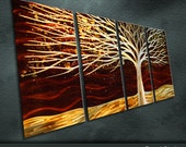 """Large Original Metal Wall Art Modern Abstract Painting Sculpture Indoor Outdoor Decor """"Tree"""" by Ning"""