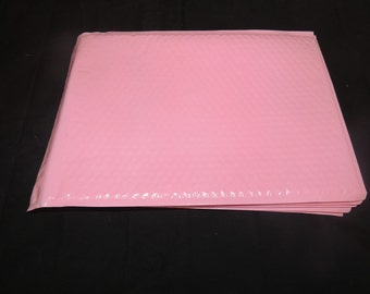 10 Light Pink 10.5x15.5  large Bubble Mailers, Size-5 Large Padded Self Adhesive Wholesale Padded Mailer Envelopes