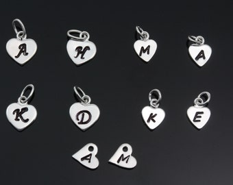 ADD Sterling Silver large heart, Sterling silver Small Heart, sterling silver side hearts Hearts 7mm or 5mm