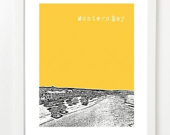 Montego Bay, Jamaica Poster - City Skyline Series Art Print - Montego Bay Wedding