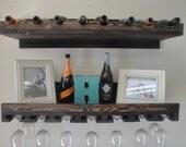Rustic Luxe Tiered Wine Rack- set of 2