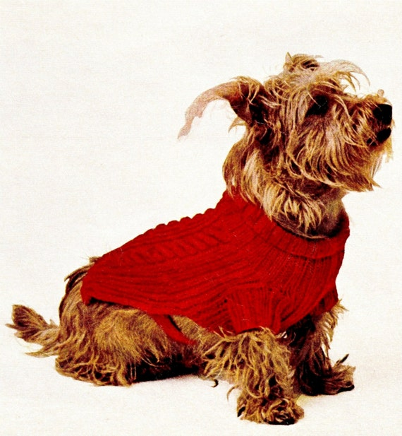 Vintage Dog Coat Knitting Pattern : Vintage DOGS Knitted Coat PDF Pattern Eco by KinsieWoolShop