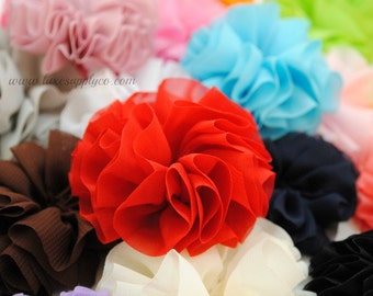 Unfinished Ballerina Flowers 2.5 inch - You Choose the Colors and Quantity - 18 COLORS
