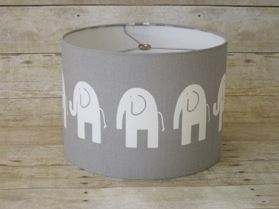 Items Similar To Lamp Shade Elephant Drum Lampshade In