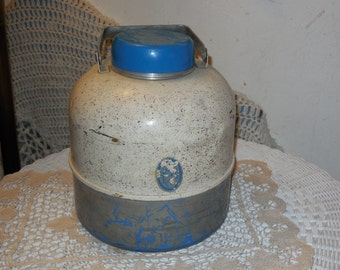 Thermos , Vintage Thermos, Camping, Vintage Camping, Vintage Home Decor, With Handle Lots of Vintage Character :)S