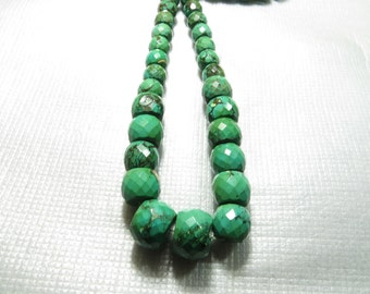 Turquoise Wholesale Price 650 CRT  27 Piece Lot Old Looking  Smooth Faceted  Good Quality Size 11X13 mm To15X21 mm  Approx