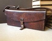 Reserved for Kal Vtg Swiss Army Leather Messenger Bag // Crossbody Handbag