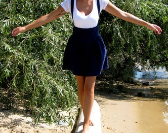 Suspender Skirt w/ Pockets