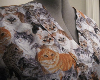 PACKED cats scrub top