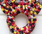 "Mickey Mouse Ribbon Wreath 14"""