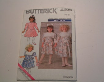 Vintage Butterick Pattern 4406 Toddler Children Dress