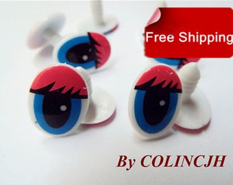 Toy Eyes Cartoon Eyes Safety Eyes Animal Eyes Craft Eyes Plastic Eyes(10 pair,style3)