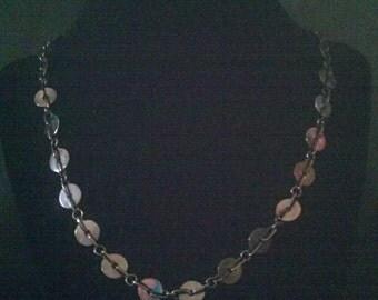 Vintage Costume Black Disk Bead Necklace