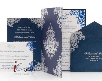 Custom Luxury Invitations-Laser Cut-Die Cut-Modern Luxury Invitations-Weddings/Special Occasion-Vintage Wedding Invitations-InviteCouture