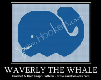 Waverly the Whale - Afghan Crochet Graph Pattern Chart - Instant Download