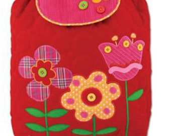 Backpack Quilted fabric Flowers Stephen Joseph Signature Collection - includes personalization