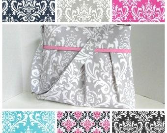 Damask Diaper Bag Medium Custom Design Your Own Boy or Girl