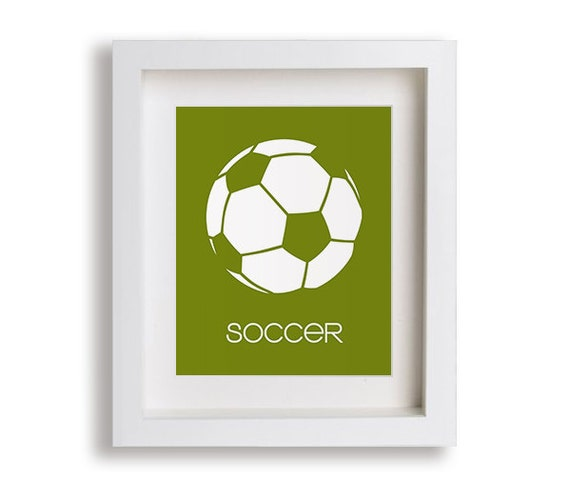 Soccer Nursery Art Print - Modern Kids Decor, Baby Boy, Nursery Decor, Nursery Art, Childrens Art, Playroom Decor, Football, Sports Decor
