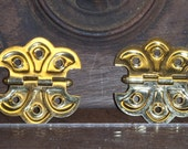 Vintage Butterfly Hinges a Pair Bright Brass or Chrome Plate