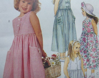 Vintage McCalls Girls Dress Pattern 7087  Size 4-5-6