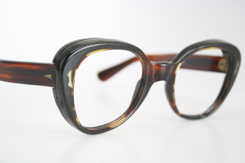 Vintage Eyeglass Frames Etsy : Vintage Eyeglasses Oversize Tortoise Old Stock 1980s Retro