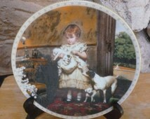 Victorian Childhood My Precious Bundle by Charles Barber plate Royal Doulton bone china