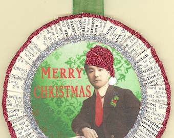 Asian Man Christmas Ornament